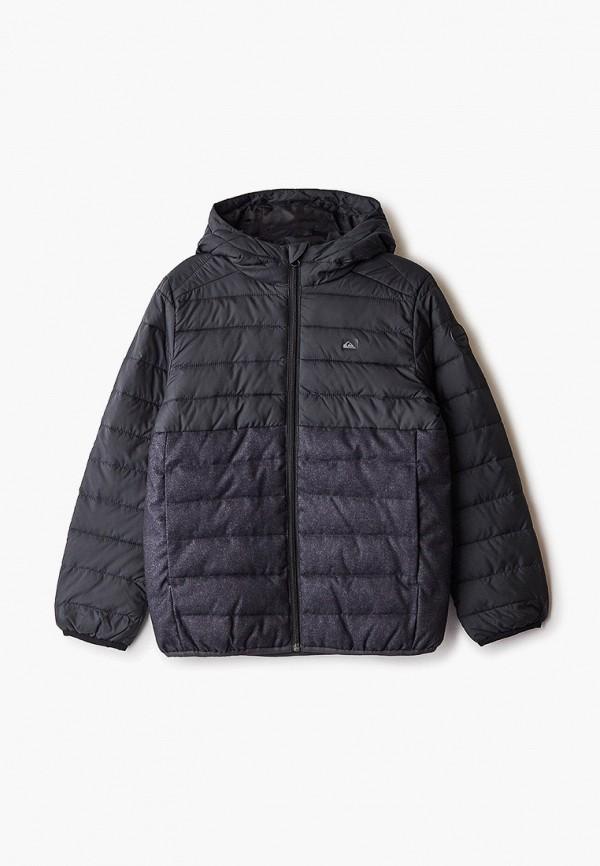 куртка quiksilver для мальчика, черная