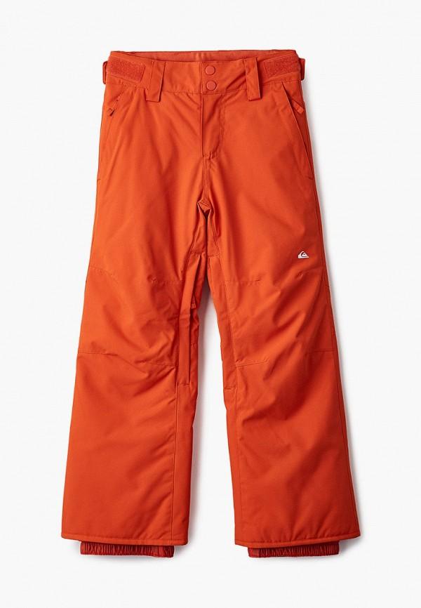 брюки quiksilver для мальчика, оранжевые