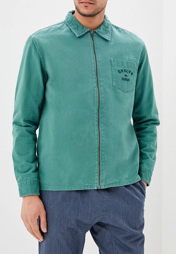 Купить Куртка джинсовая Quiksilver, qu192emakix8, зеленый, Осень-зима 2018/2019