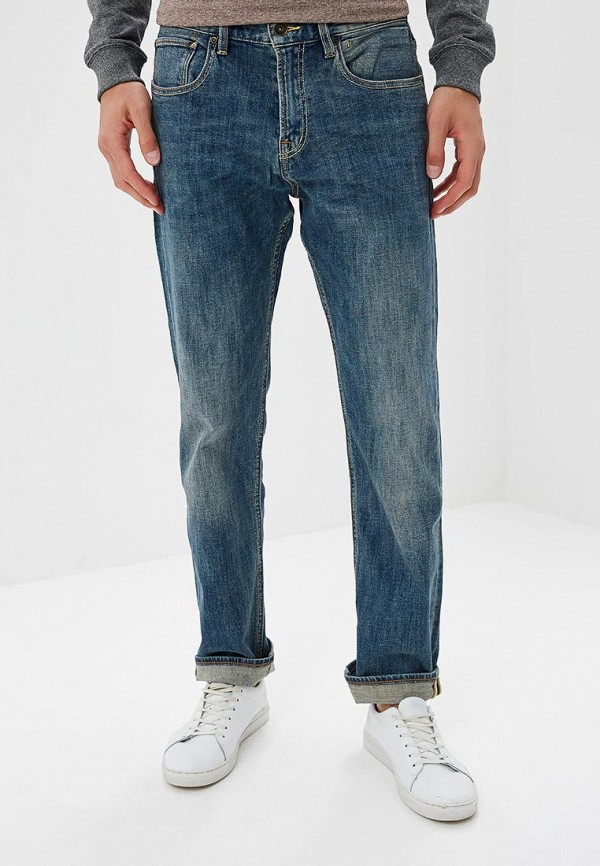 мужские прямые джинсы quiksilver, синие