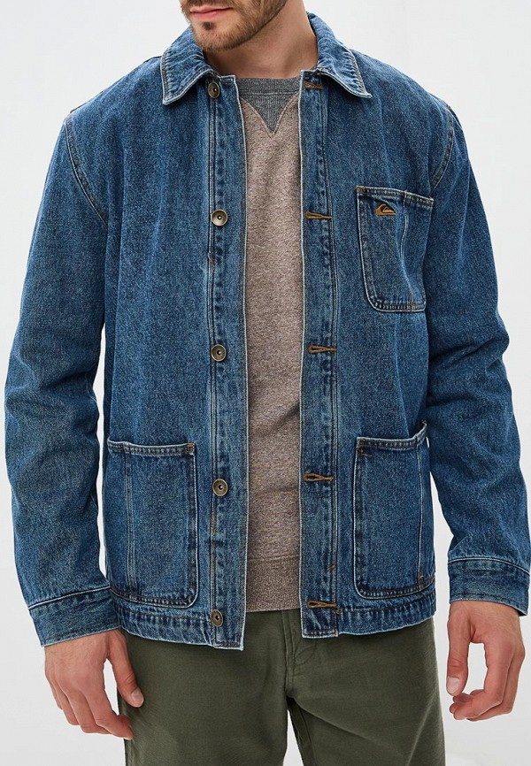 Куртка джинсовая Quiksilver Quiksilver QU192EMCFGI0 куртка джинсовая детская quiksilver jungle temple you jckt blue salted