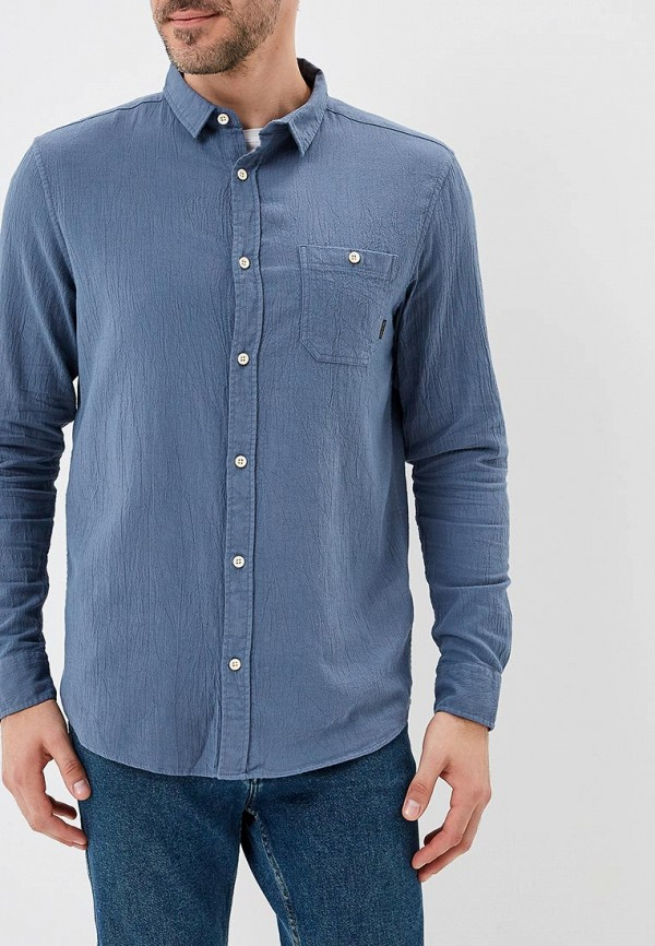 мужская рубашка quiksilver, синяя