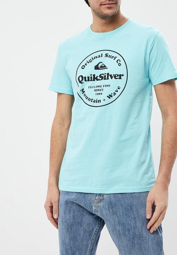 мужская спортивные футболка quiksilver, голубая