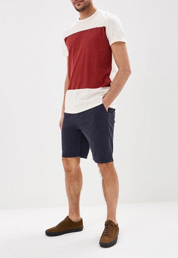 Фото 2 - мужские спортивные шорты Quiksilver синего цвета
