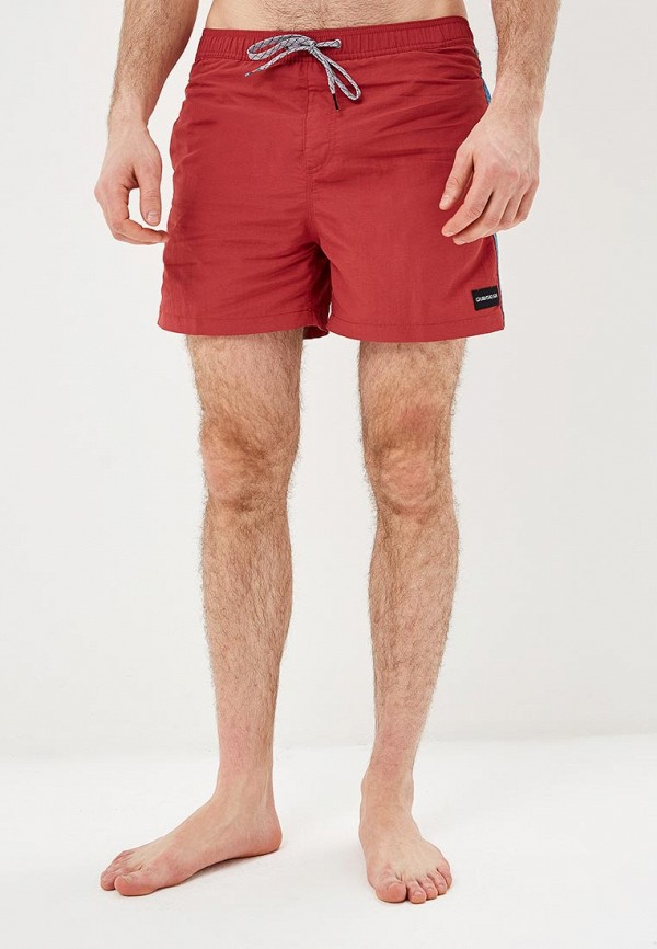мужские спортивные спортивные шорты quiksilver, красные