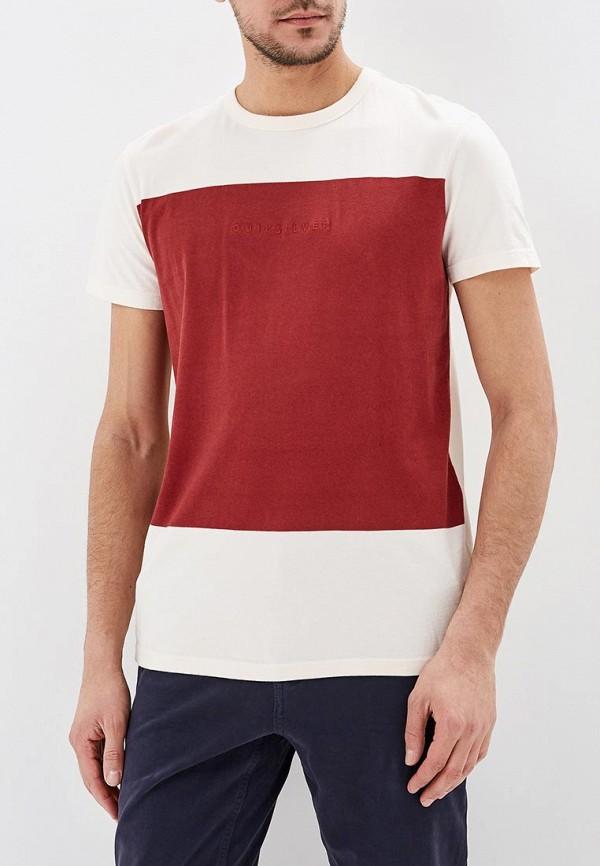 мужская футболка quiksilver, белая