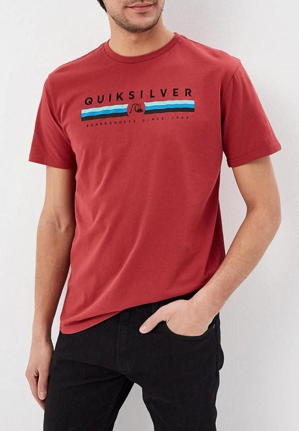 мужская спортивные футболка quiksilver, красная