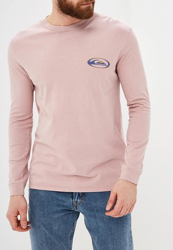 мужской лонгслив quiksilver, розовый
