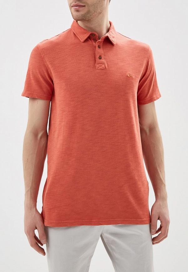 мужское поло quiksilver, оранжевое