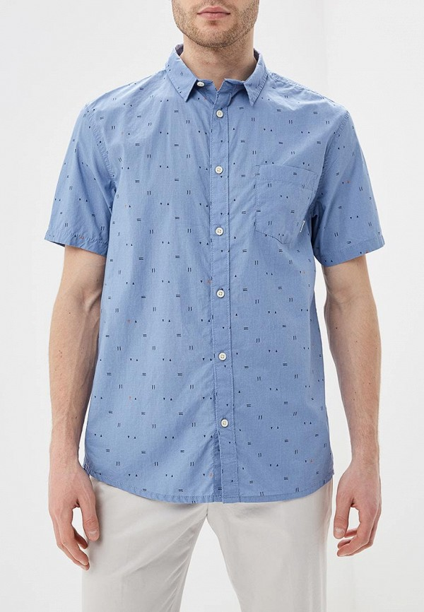 мужская рубашка quiksilver, голубая