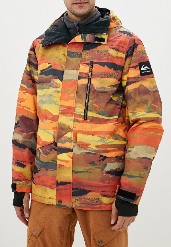 мужская куртка quiksilver, оранжевая