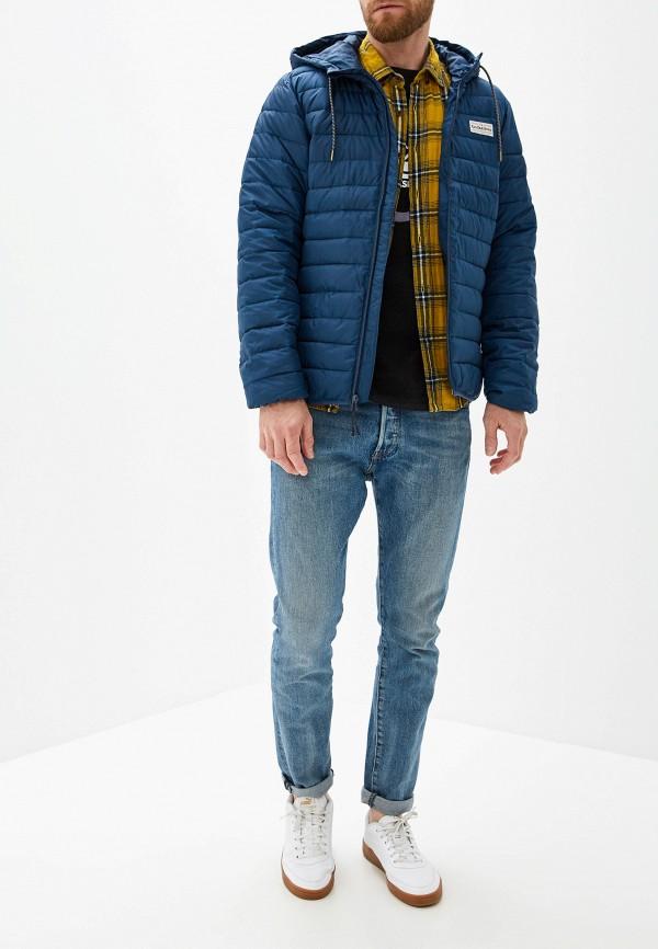 Фото 2 - Куртку утепленная Quiksilver синего цвета