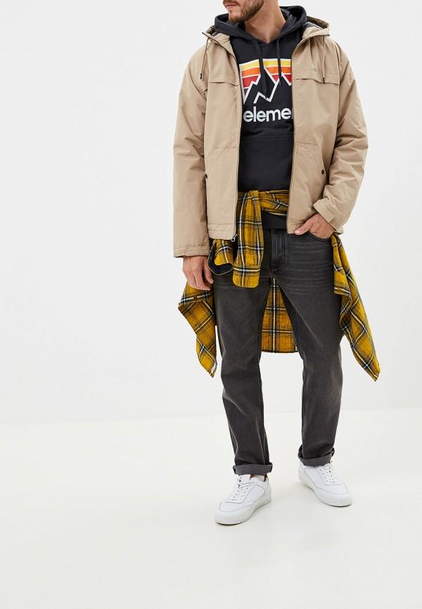 Фото 2 - Куртку утепленная Quiksilver бежевого цвета