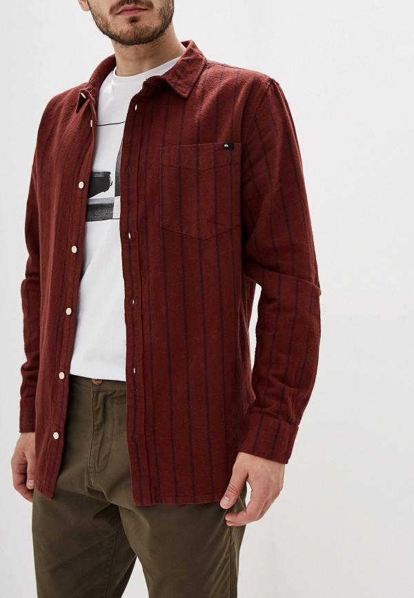 мужская спортивные рубашка quiksilver, коричневая