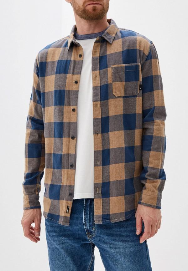 Фото - мужскую рубашку Quiksilver синего цвета
