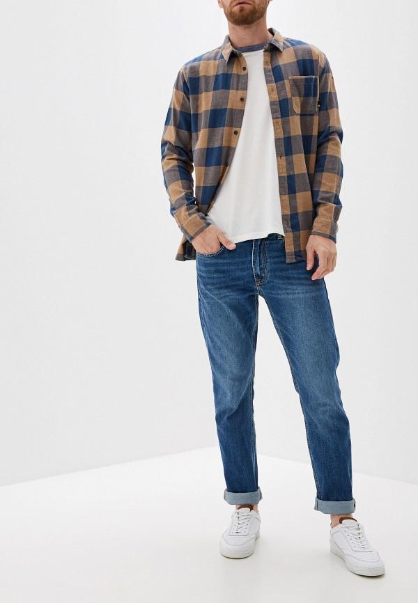 Фото 2 - мужскую рубашку Quiksilver синего цвета