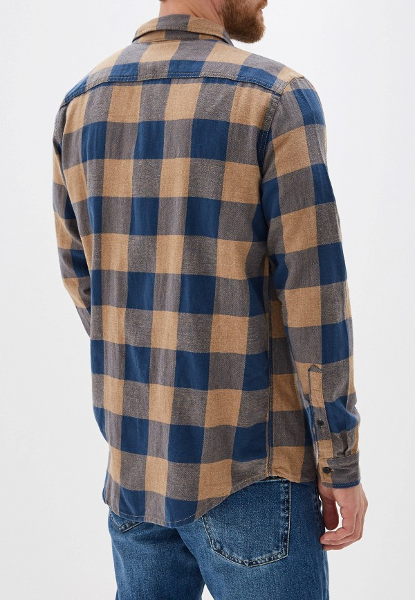 Фото 3 - мужскую рубашку Quiksilver синего цвета