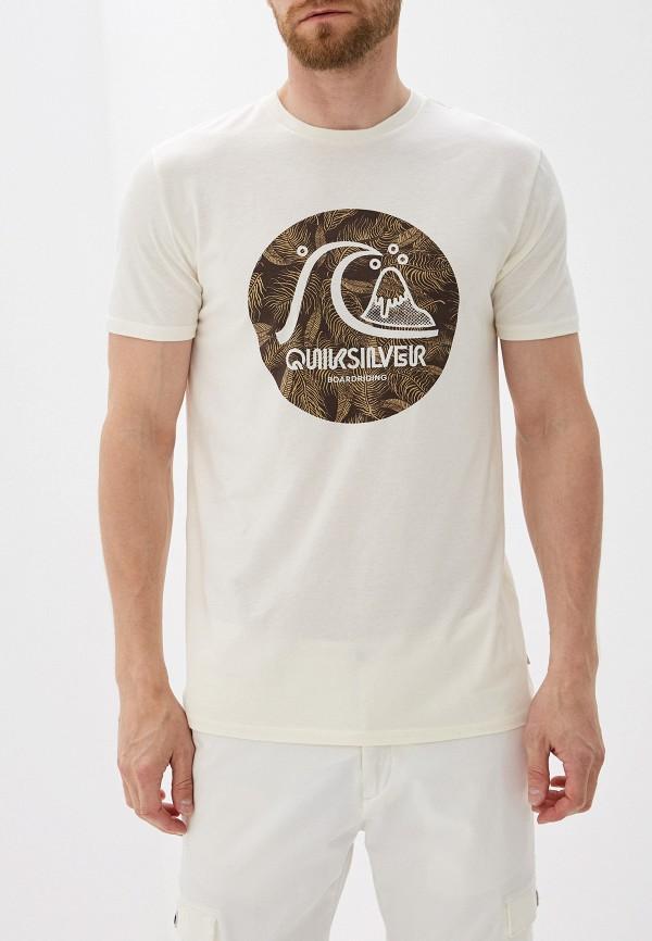 мужская спортивные футболка quiksilver, бежевая