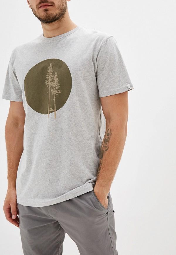 мужская футболка quiksilver, серая