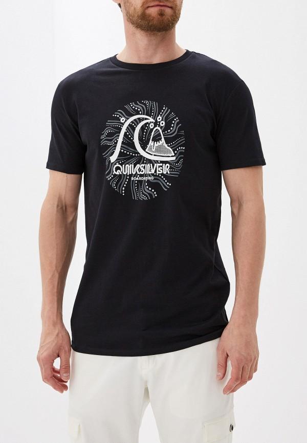 мужская спортивные футболка quiksilver, черная