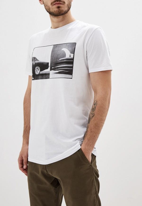 Футболка Quiksilver Quiksilver QU192EMFZPP9 футболка мужская quiksilver mandwsstee цвет белый eqyzt05262 wbb0 размер s 44
