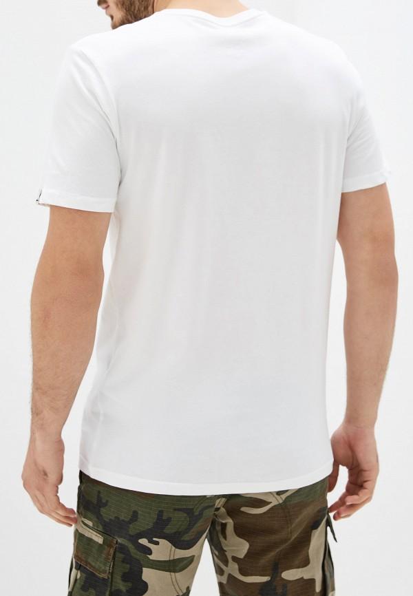 Фото 3 - мужскую футболку Quiksilver белого цвета