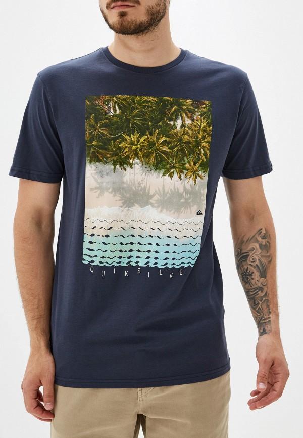 Фото - мужскую футболку Quiksilver синего цвета