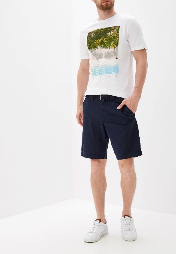 Фото 2 - мужскую футболку Quiksilver белого цвета