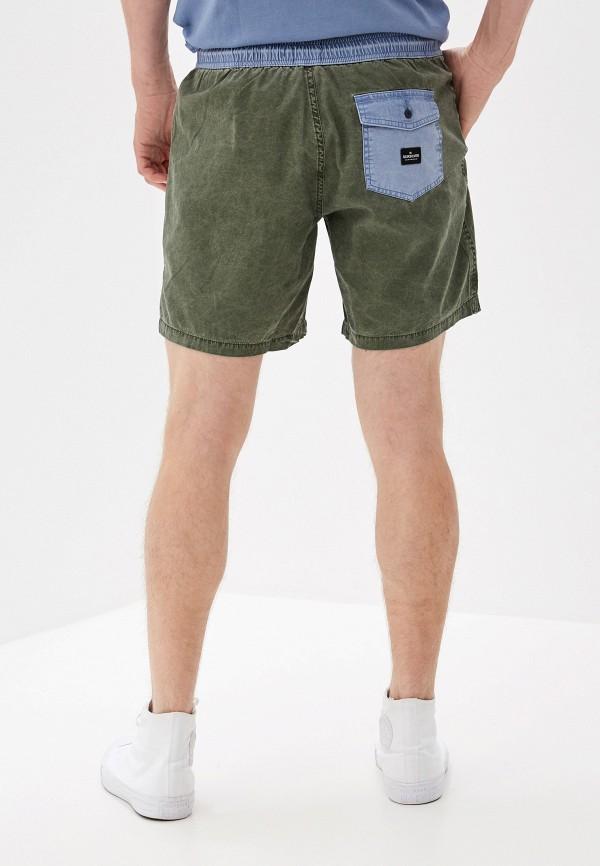 Фото 3 - мужские шорты Quiksilver цвета хаки