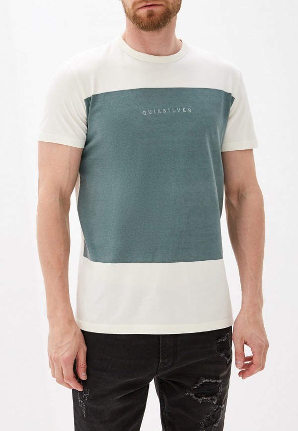 Фото - мужскую футболку Quiksilver белого цвета
