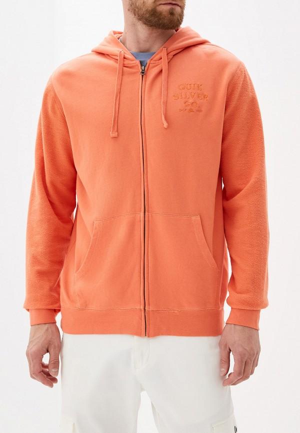 Фото - мужскую толстовку Quiksilver оранжевого цвета