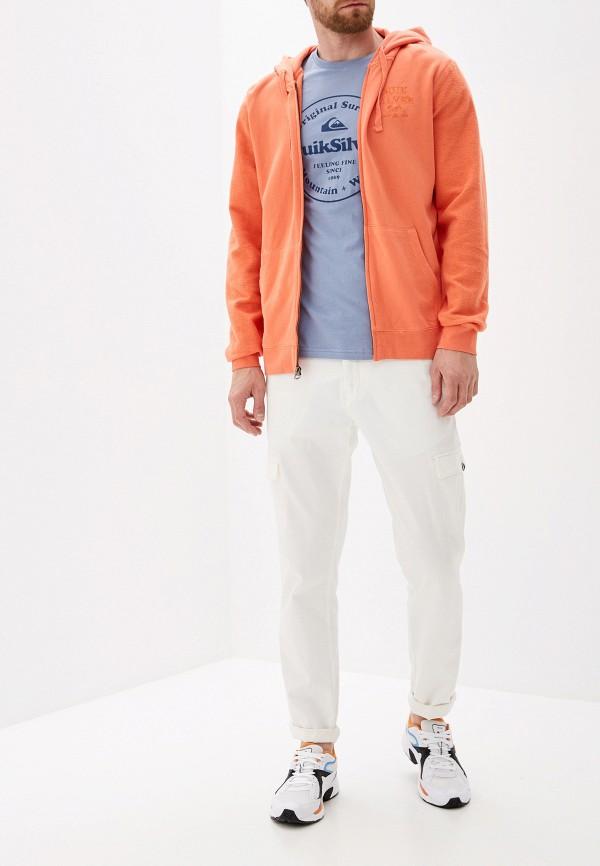Фото 2 - мужскую толстовку Quiksilver оранжевого цвета