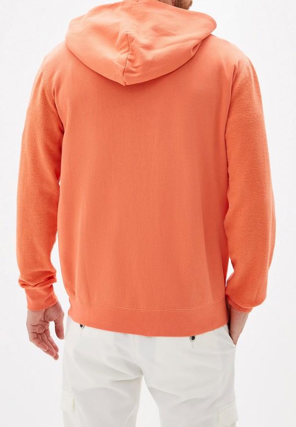 Фото 3 - мужскую толстовку Quiksilver оранжевого цвета
