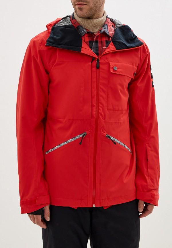 мужская куртка quiksilver, красная