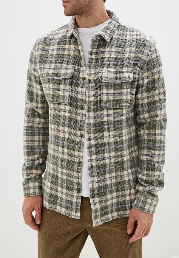 мужская рубашка с длинным рукавом quiksilver, зеленая
