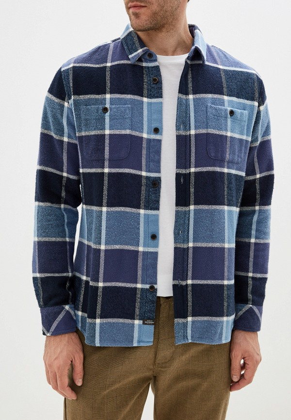 мужская рубашка с длинным рукавом quiksilver, синяя