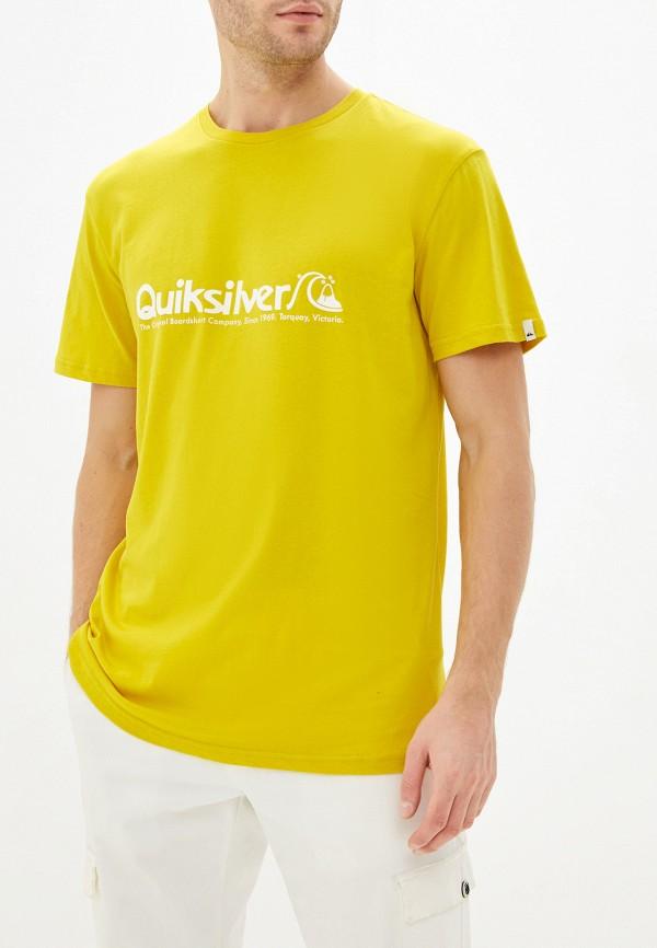 мужская спортивные футболка quiksilver, желтая