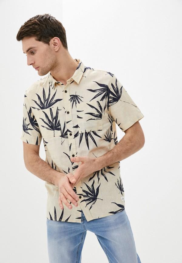 мужская рубашка quiksilver, бежевая