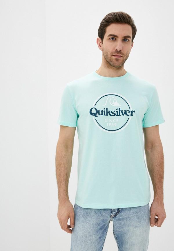мужская спортивные футболка quiksilver, зеленая
