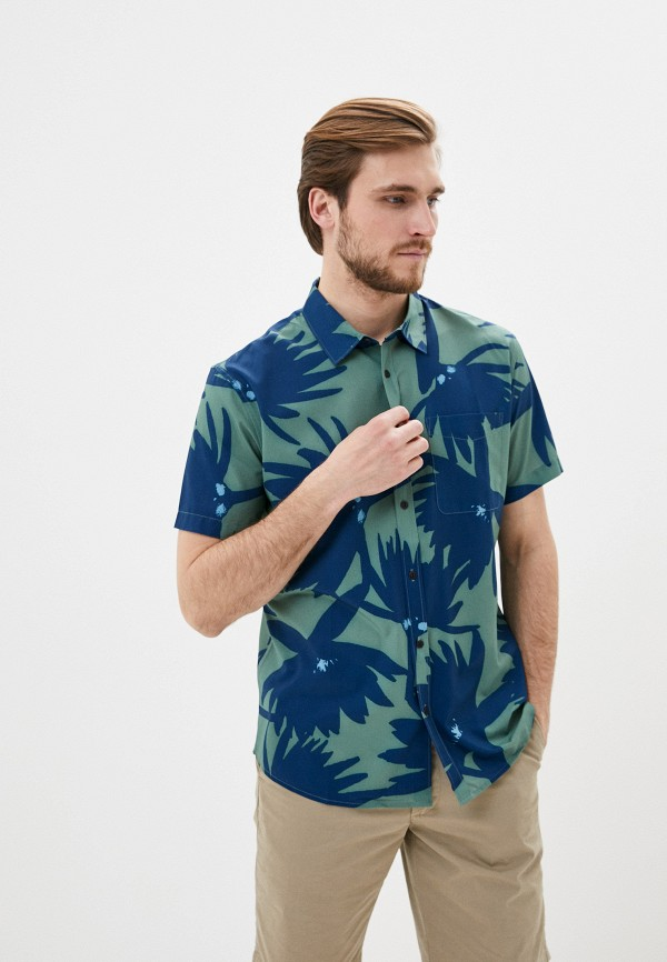 мужская рубашка quiksilver, зеленая
