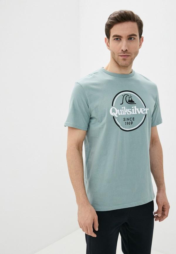 мужская спортивные футболка quiksilver, бирюзовая