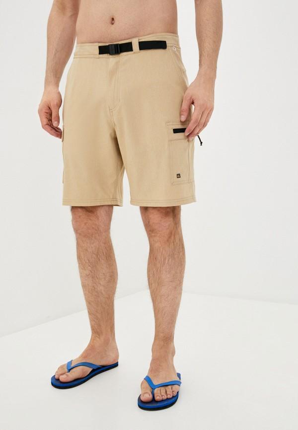 мужские спортивные шорты quiksilver, бежевые