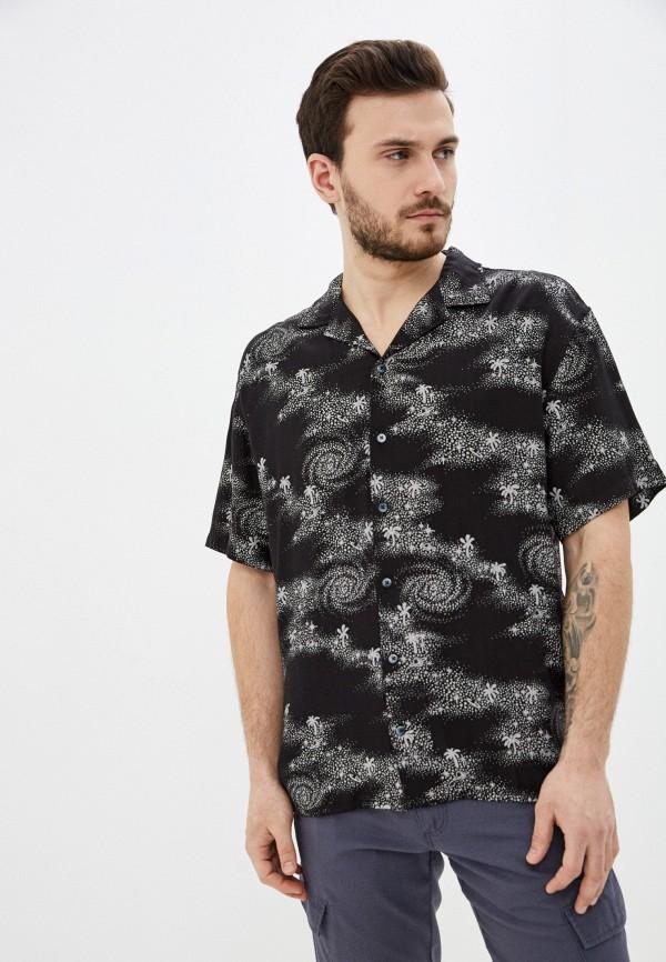 мужская рубашка quiksilver, черная