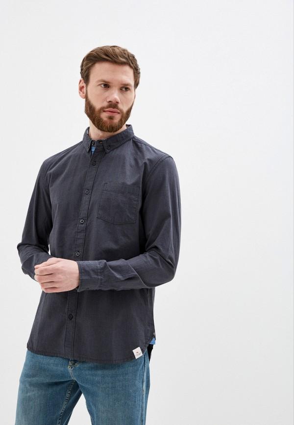 мужская рубашка с длинным рукавом quiksilver, черная