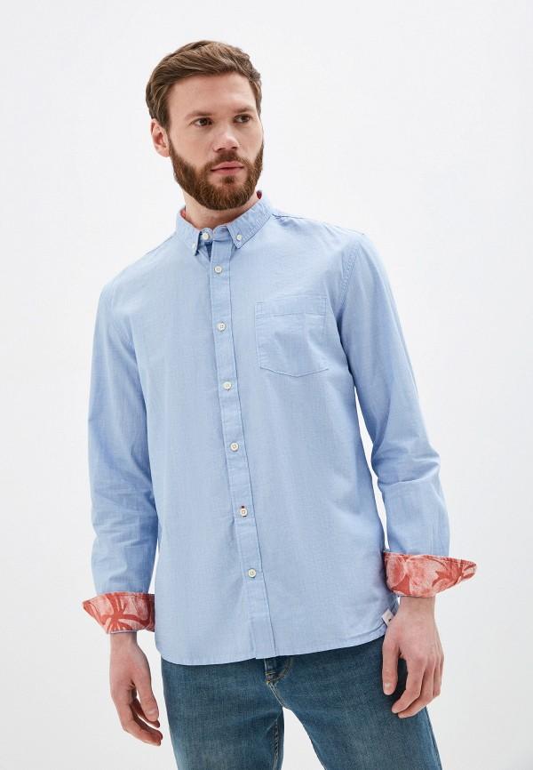 мужская рубашка с длинным рукавом quiksilver, голубая
