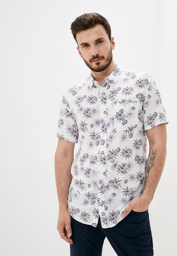 мужская рубашка quiksilver, белая