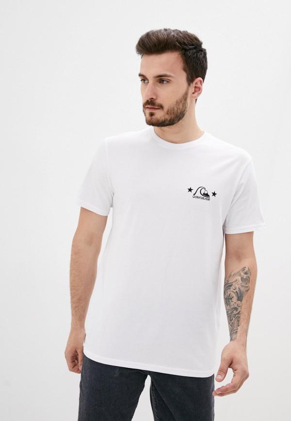 мужская спортивные футболка quiksilver, белая