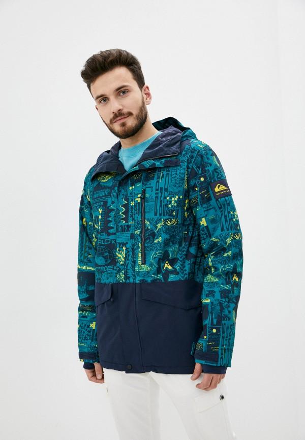мужская горнолыжные куртка quiksilver, зеленая