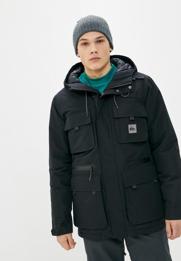 мужская спортивные куртка quiksilver, черная