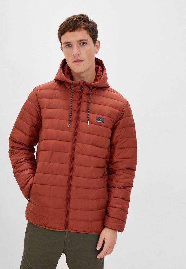 мужская куртка quiksilver, коричневая
